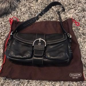 Coach Black Leather Satchel with DustBag